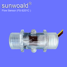 "DN15 G1/2"" rate 1~30L/min Hall Magnetic plastic water flow rate sensor"