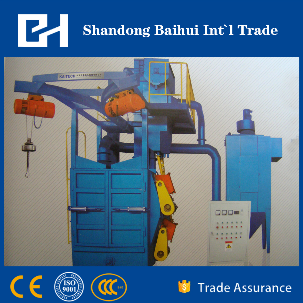 Hot sale hook shot blasting machine with CE