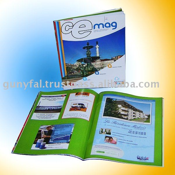 CMYK Saddle Stitching Coated Paper Brochure