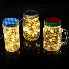 1M 2M 3M CR2032 button cell battery operated invisible decor fairy lights, bright rice lights on ultra thin copper wire