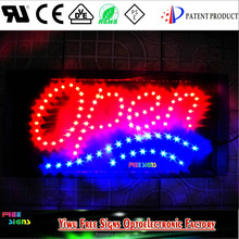 Ultra Bright LED Neon Light Animated OPEN Sign, LED light open sign