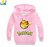 Newest spring anutumn children pokemon go sweatshirts long sleeves kids clothing