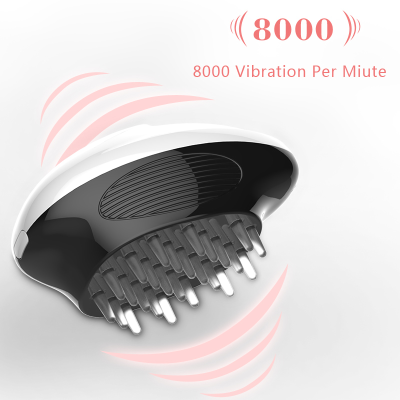 Patent Design Mini Battery Operated Electric Vibrating Hair Growth Head Massage Comb for Promotion Gift