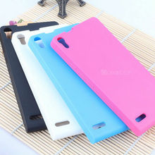 High quality TPU case with frosted surface for Huawei Ascend p6 case mobile