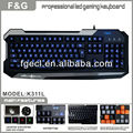 Wired backlight Gaming Keyboard led with programmable keys