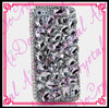 Aidocrystal White Rhinestone Covered Bling Bling Cell Phone Case Cover