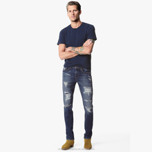 High Quality On Brand Ripped Urban Star Wholedale Used Denim Jeans Denim Hem Detail new fashion men jeans