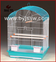Hanging Metal Chrome Bird Cage Stand and Front for Bird Cage
