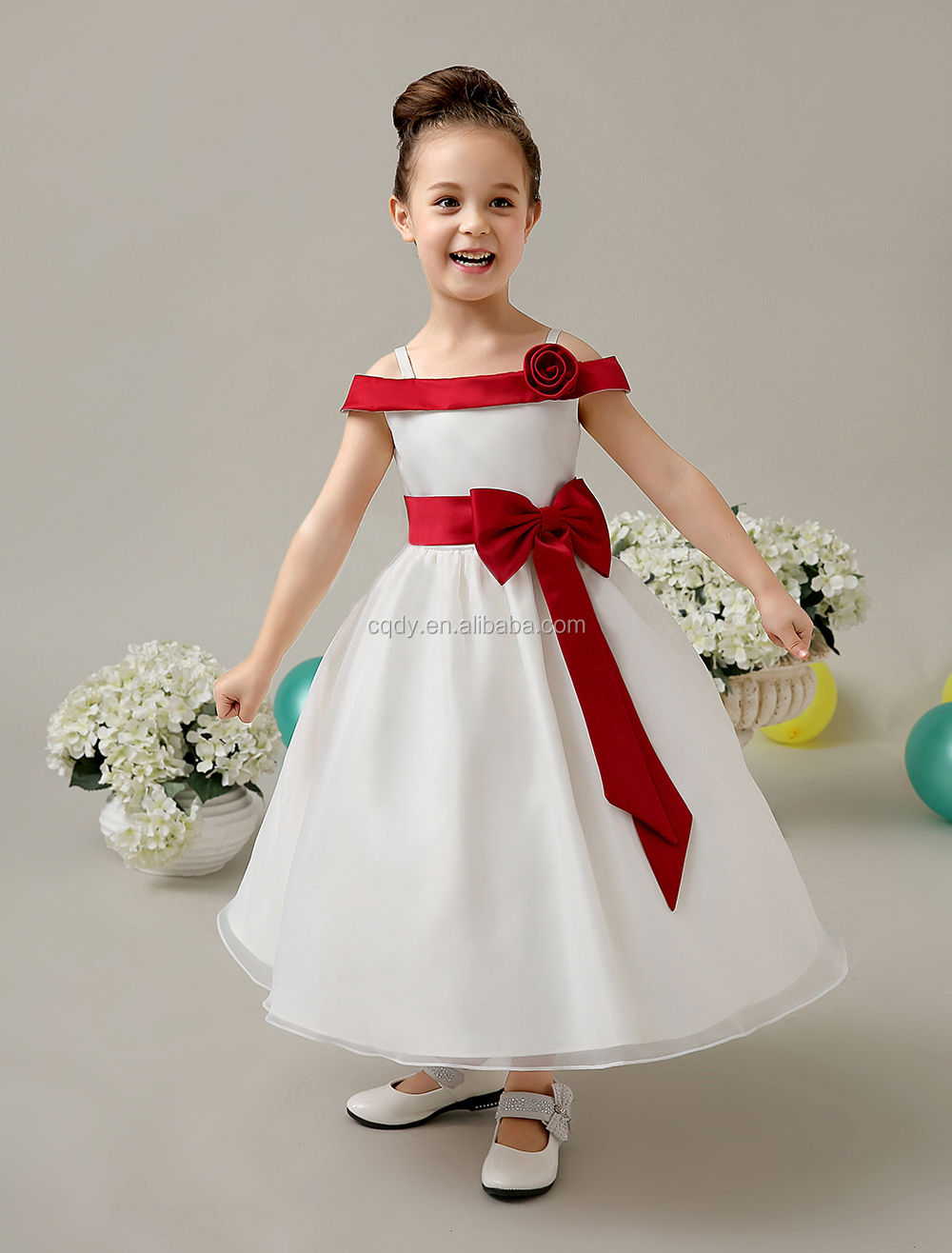 New Arrival 2015 Modern A Line Round Neck Long Flower Girl