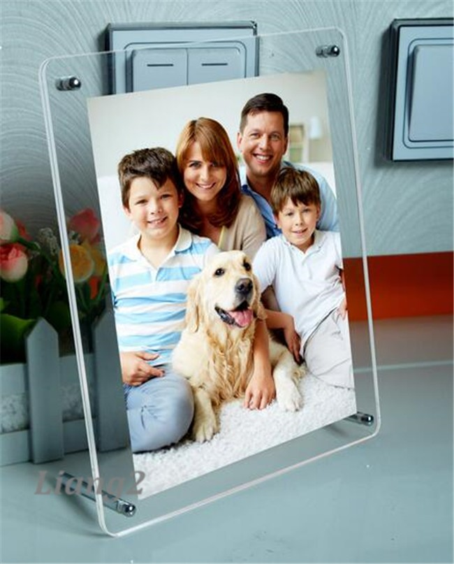 customization clear acrylic magnetic photo frame