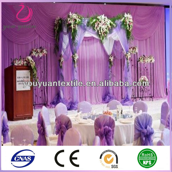 wedding voile drapery backdrops sheer fabric ceiling draping