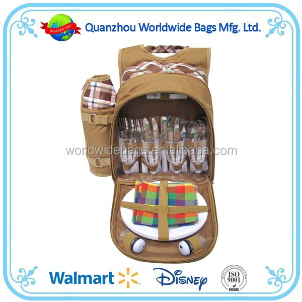 Picnic bag set, hot selling picnic bag, picnic backpack for 4 person