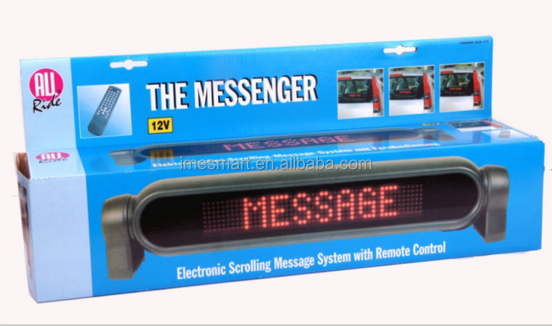 7*50 dots programmable car Led Moving Message Display Sign
