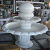 Decorative white marble table top water fountain