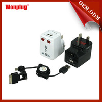 Wonplug patent 5v 1a usb travel charger power adapter, popular swiss world travel adapter in walmart.