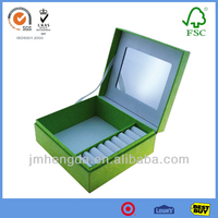 Fashion new disign cardboard jewellery packaging with mirror