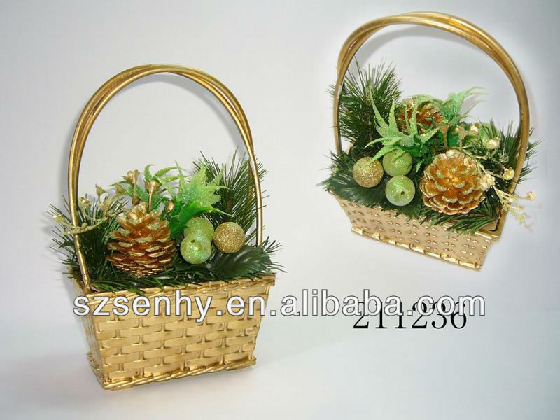 christmas decor flower pot