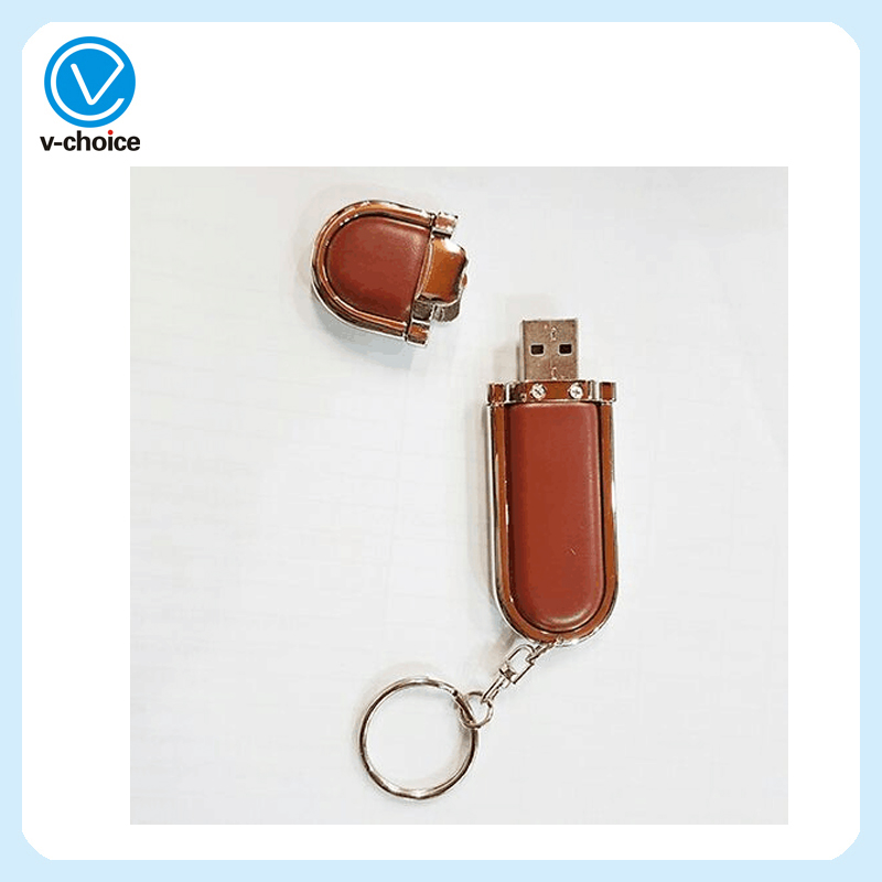Hot Selling New leather 16gb USB Disk With Custom Logo Free sample USB