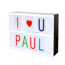Mini A5 Size LED Letter Lightbox With Replaceable Letters Advertising Lighting Box USB Cinematic LED Light Box