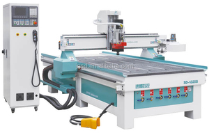Automatic 3D Wood Carving Cnc Router/Wood Cnc Furniture Process Center 1325 standard ATC disc tool changer machinery