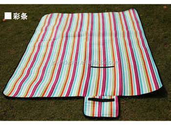 SH06 ,Convenient portable tote foldable floor grass sand outdoor Beach picnic mat/non woven sandless beach mat