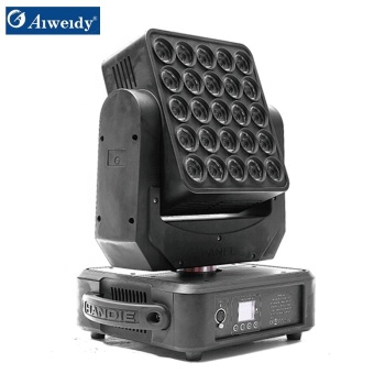 guangzhou aiweidy news products 25*10W LED rgb 4 in 1 Matrix Moving Head light led matrix light for sale