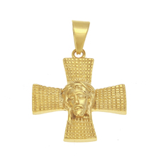 gold plated men cross Jesus head pendant stainless steel cross <strong>necklace</strong> jesus piece <strong>necklace</strong> cross religious <strong>necklace</strong> pendant