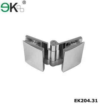 Frameless Adjustable Glass Brass Pivot 135 Degree Shower