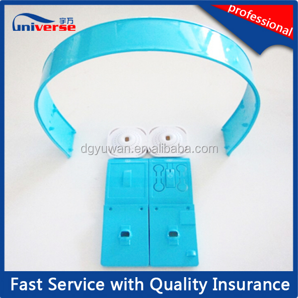 Plastic Injection Moulded Outer Shell for Headphone with UV Coating