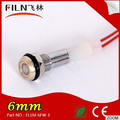12v mini led round flat white 6mm indicator light with wire