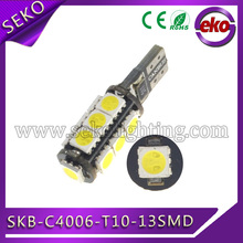 led t10 ba9s 13 smd super bright light,flat t10 wedge led