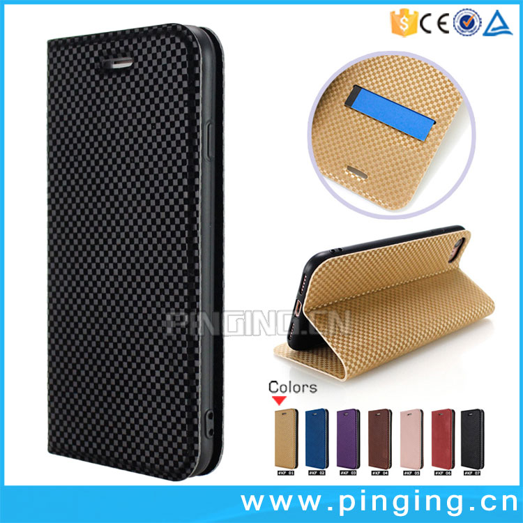 New Arrival voltage lattice texture magnet stand phone case for ZTE nubia M2 Play leather case card