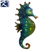metal seahorse wall hanging for home decor