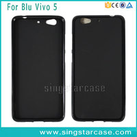 High Quality Pudding Matte Gel TPU Back Cover Phone Case For BLU Vivo 5