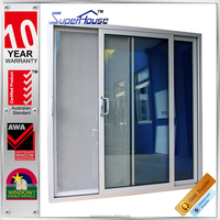 Australia standard double tempered glass sliding aluminium profiles handle doors and windows