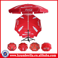 Red Coca Parasol Umbrella Cola Beach Umbrella