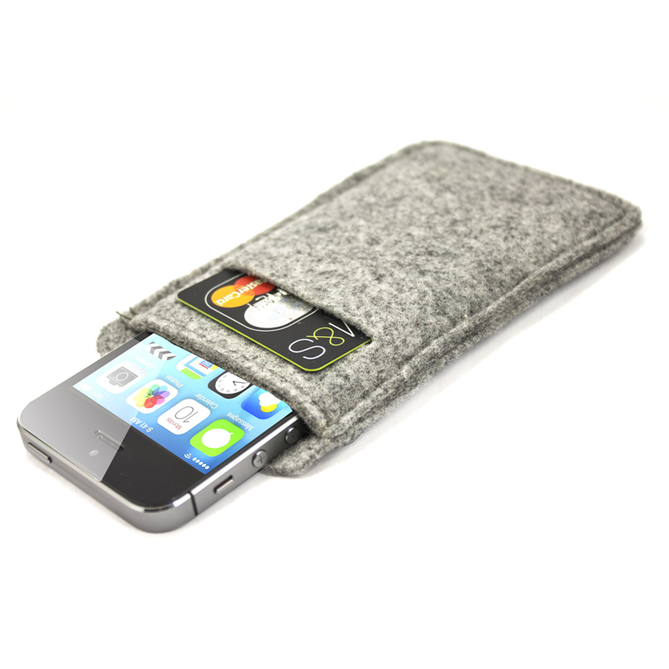 Factory Wholesale Suitable For Any Type Handmade Phone Felt Wallet Pouch