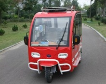 hot selling E power for passenger taxi use tricycle with closed cabin