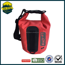 Small capacity 450D pvc cell phone waterproof dry bag for swimming sports