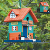 Wooden Bird Feeder And Bird House