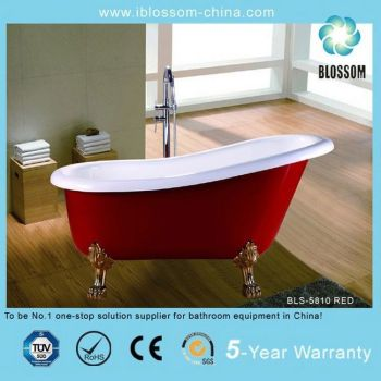 Red Color Clawfoot Bathtub Buy Red Color Clawfoot Bathtub Luxury Freestandi