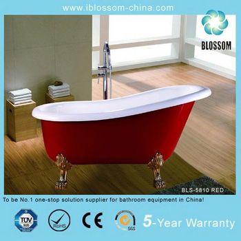 Red Color Clawfoot Bathtub Buy Red Color Clawfoot Bathtub Luxury Freestandi