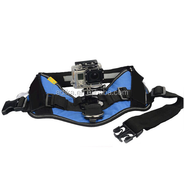 GoPros Dog Harness For GoPros fetch mount, Dog Chest Harness Belt Strap Belt Mount For Go Pro Hero4 3+ 2 For Xiaomi Yi