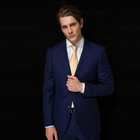 Men's Italian 100% wool fabric tailor made 2 pieces suit jacket