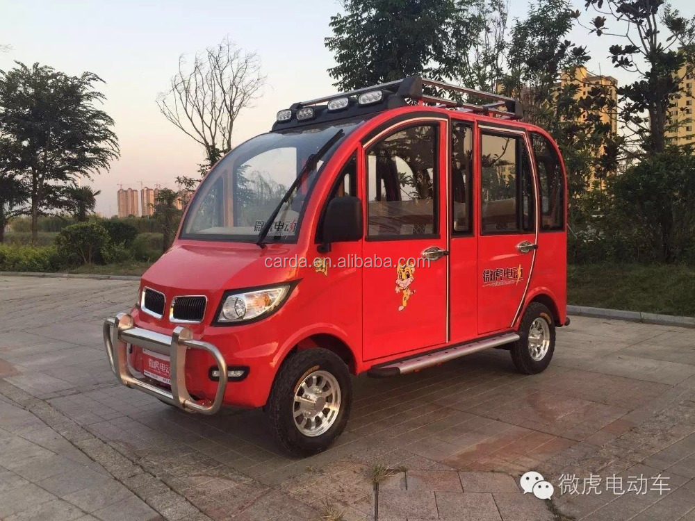 4 WHEELER 3 ROWS ELECTRIC VEHICLE FOR PASSENGER