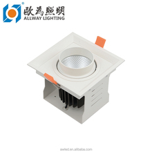 12W 18W 24W Square Round recessed 1 watt recessed led mini downlight