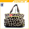 2015 China Manufacturer Green Trim Giraffe Diaper Tote Bag
