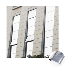 PVC Available Decorative Sun Control Privacy Static Cling One Way Mirror Film Glass Tint for building/home decor