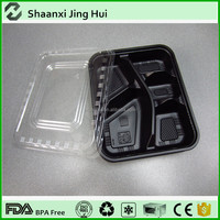 China manufacture supply rectangular plastic food divider tray with cover