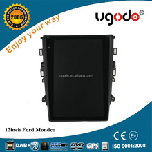 ugode new product 12.1 inch Tesla style Screen GPS Navigation For Ford Mondeo 2013